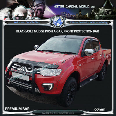 Mitsubishi L200 Bull Bar Chrome Essieu Nudge A-bar 60 mm 2006-2015 Grande offre NEUF