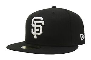 New-Era-59Fifty-Cap-MLB-San-Francisco-Giants-Mens-5950-Black-White-Fitted-Hat