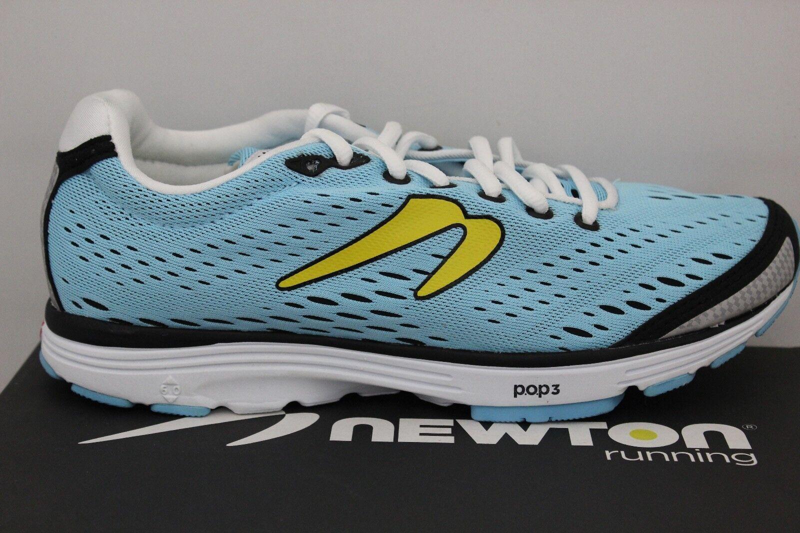 Women's Newton Running AHA Light bluee Yellow White WOO4214 Brand New In Box
