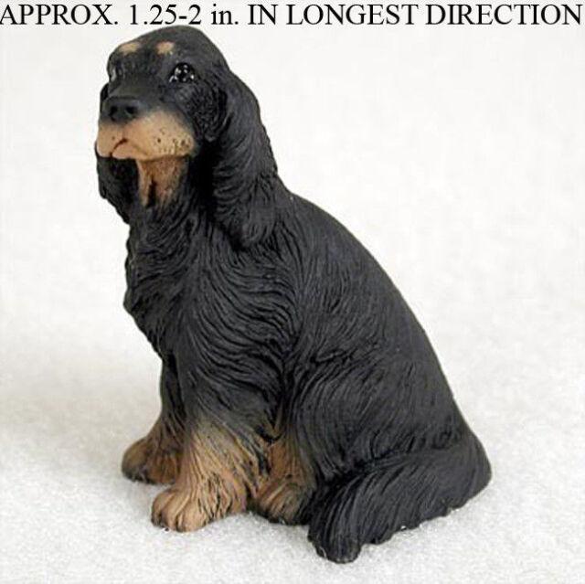 Gordon Setter Mini Resin Dog Figurine Statue Hand Painted