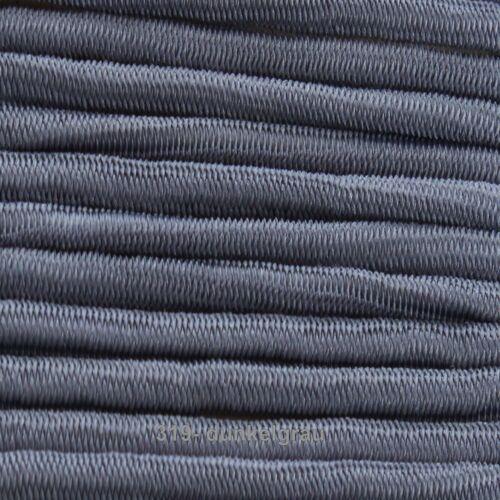 1m hutgummi goma cordel anchura 26 colores 3mm