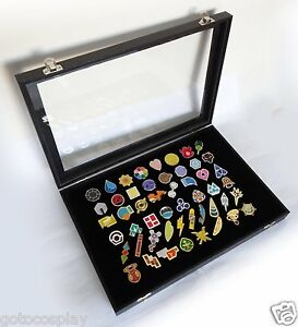 Details about Pokemon Gym Badges with Glass Lid Display Showcase - Set of  50 Lapel Pin Badges