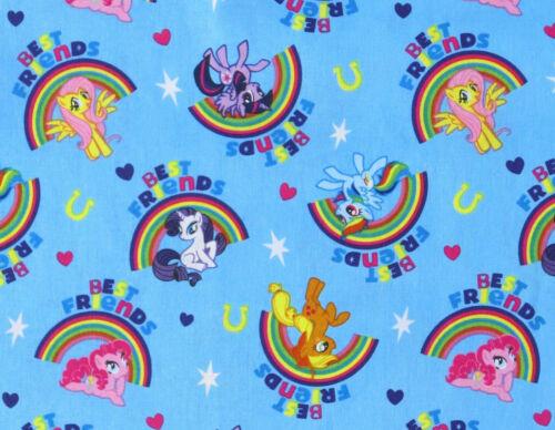 MY LITTLE PONY FABRIC PALS RAINBOWS MAGIC COTTON SPRINGS CREATIVE HASBRO YARDAGE