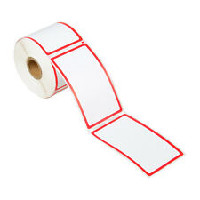 1 Roll 300 Barcode Address Shipping Labels Red Border For Dymo 30344 2 516 X4