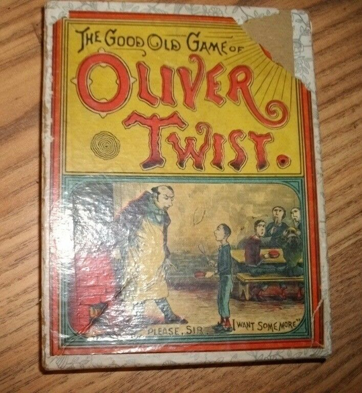 The Good Old Game of Oliver Twist, by Parker Bros., Circa 1880, Complete, Box
