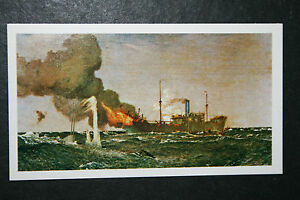 Royal-Navy-Q-Ship-v-U-Boat-World-War-I-Superb-Action-Card-EXC