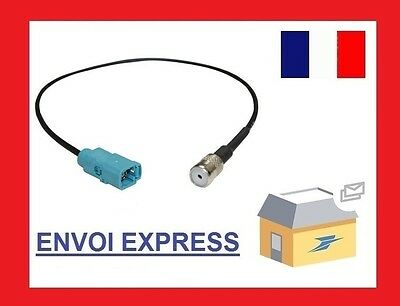 Mercedes Female Fakra Female ISO Car Antenna Aerial Adaptor Connector Cable Lead