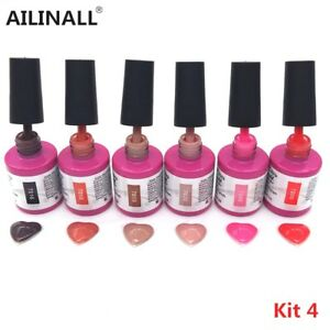 6Color/Set 13Ml Uv Gel Polish Soak Off Uv Led Gel Nail Polishes Lacquer Kit4