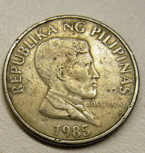 1985-PHILIPPINES-1-Piso-Coin