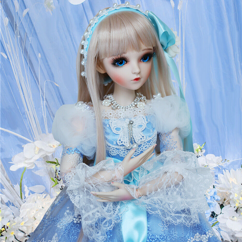 24  BJD Doll 1 3 Ball Jointed Girl Doll with Face Makeup Wigs Clothes schuhe Set