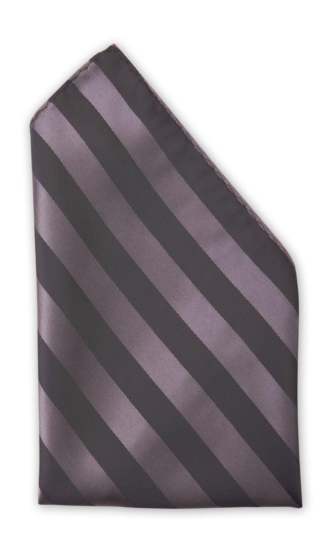 Einstecktuch schwarz gestreift edel matt & glänzend Fabio Farini Business