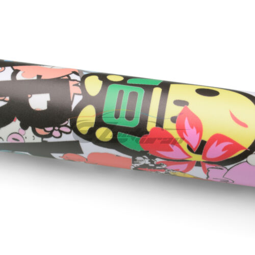 "*24/""x60/"" Sticker Bomb Vinyl Wrap Decal Film Graffiti Cartoon JDM Anime DIY #194"
