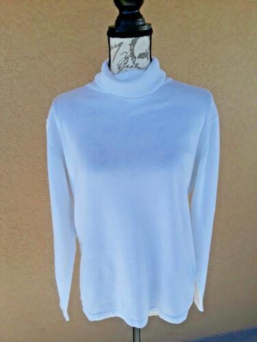 Dress Barn Long Sleeve Turtleneck Top SZ-L  Ivory
