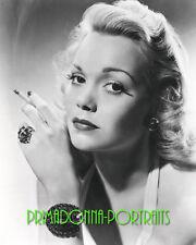 JANE WYMAN 8X10 Lab Photo B&W 1940s Smoking Blonde Bejeweled Bombshell Portrait
