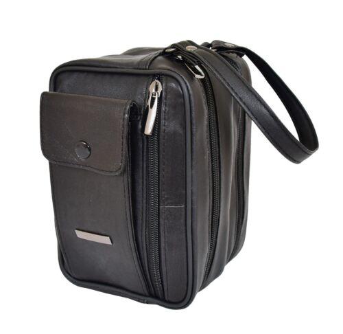 Gents Real Soft Leather Wrist Bag Clutch Travel Black Cab Money Mobile Man Bag