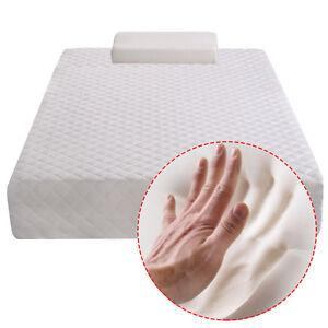 "New Twin Size 10"" Memory Foam Mattress  Bed Pad Topper FREE Pillow"