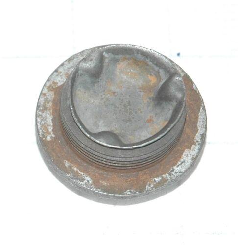 "1953-62 CORVETTE MASTER CYLINDER CAP /""USE GMC BRAKE FLUID/"" USED ORIGINAL"