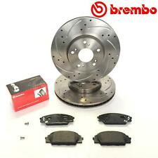 FOR HONDA CIVIC 2.0 TYPE R EP3 JDM FRONT PERFORMANCE BREMBO BRAKE DISCS PADS