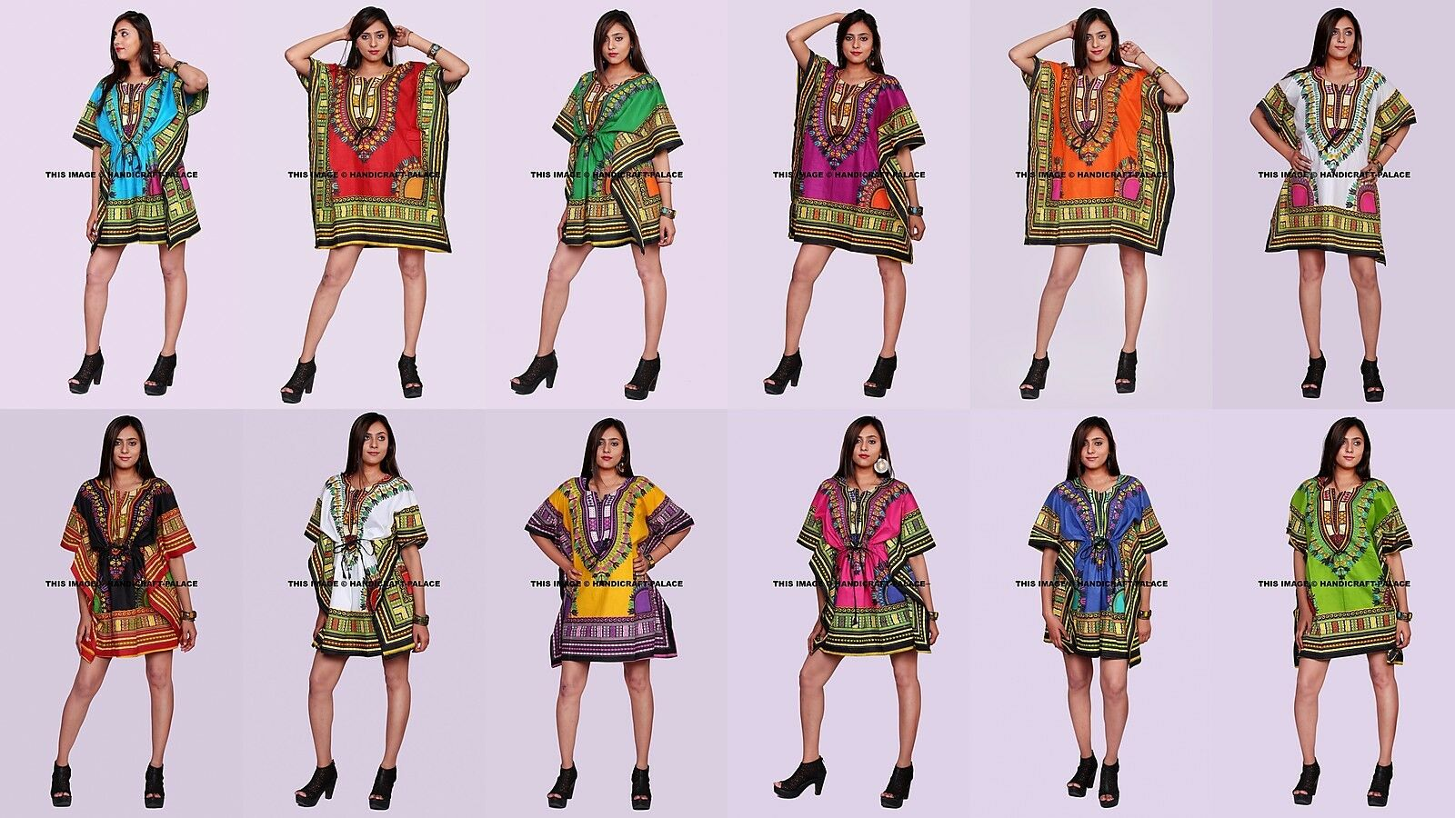 c6d081a716 Women s Caftan Dress Kaftan dashiki Hippie Maxi Gown Beach Dress 5 PC LOT  Boho oclmmk4703-Dresses
