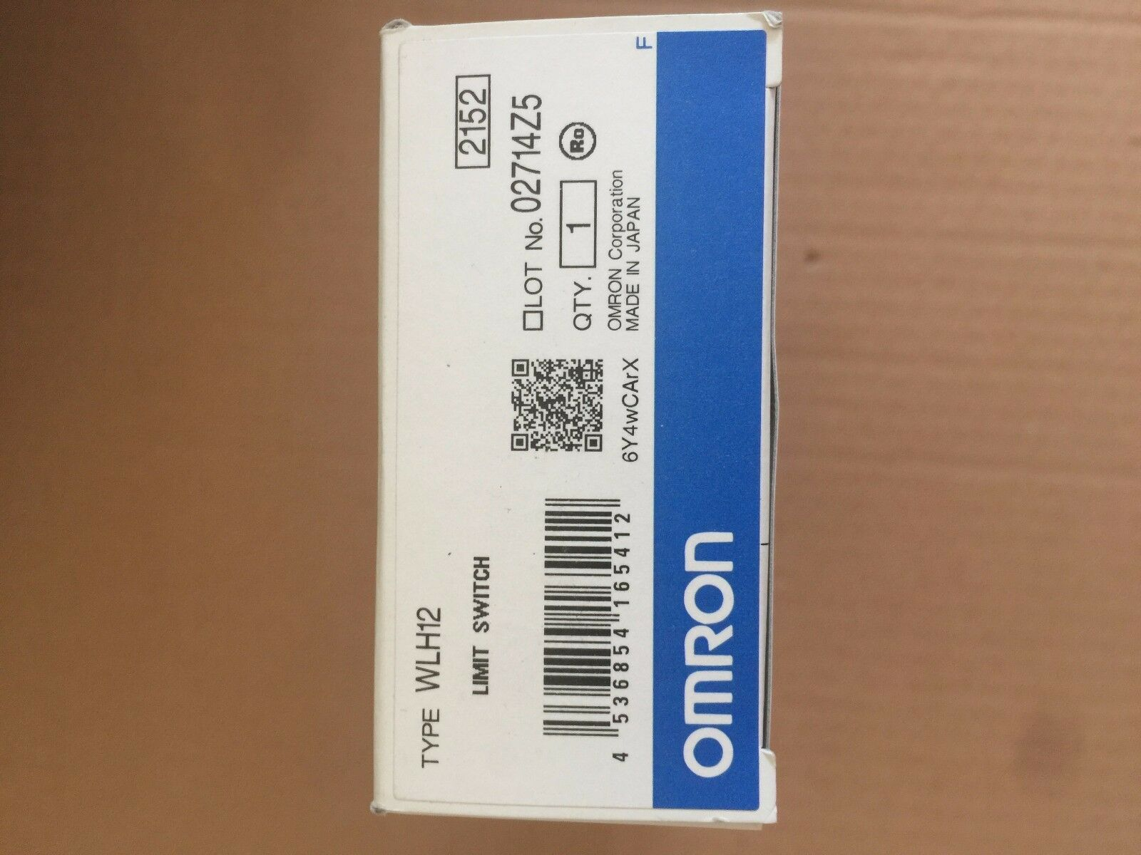 1PC New Omron Limit Switch WLH12 free shipping