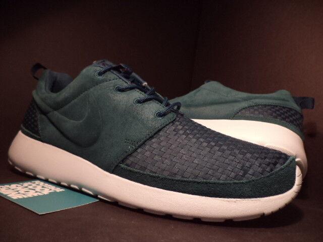 Nike ROSHE RUN ROSHERUN WOVEN ATOMIC TEAL GREEN blanc FIBERGLASS 555602-334 10 Chaussures de sport pour hommes et femmes