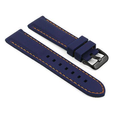 StrapsCo Premium Silicone Rubber Watch Strap Divers Band w/ Matte Black Buckle