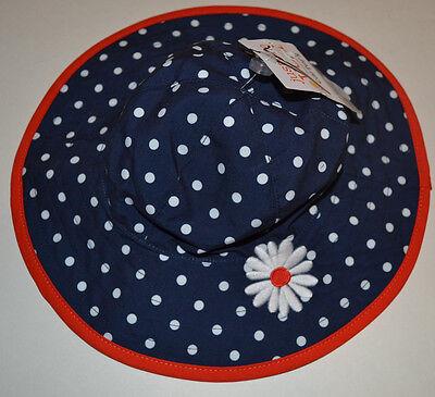 Carter/'s Baby Infant CHAMBRAY Polka Dot Bucket SUN Hat 0-9 mo WIDE BRIM UPF 50