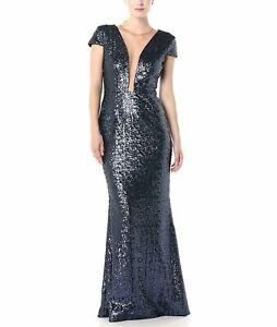 Dress-the-Population-Michelle-Cap-Sleeve-Sequin-Gown-MSRP-320-Sz-M-3-1176-Bl