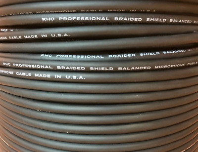 Black Monoprice 8.0mm Professional Microphone Bulk 16AWG Cable Cord 250FT