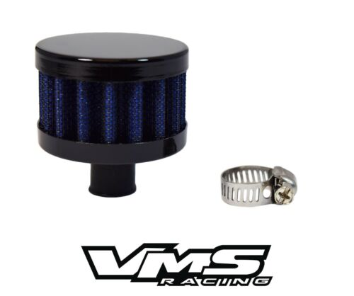 9MM MINI AIR FILTER BREATHER FOR CATCHCANS VALVE COVERS COOLANT RESERVOIRS BLUE