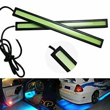 2 x Slim COB DRL Daylight Running light Waterproof for bike & car (ICE BLUE)