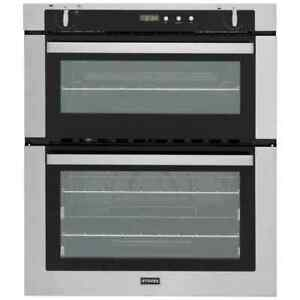 Stoves-SGB700PS-Built-Under-60cm-B-A-Gas-Double-Oven-Stainless-Steel-New-from