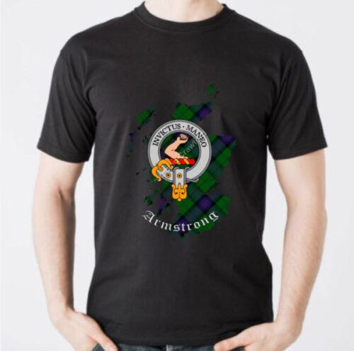 Scotland Cotton Tee Armstrong Clan T-Shirt Scottish Heritage Clothing