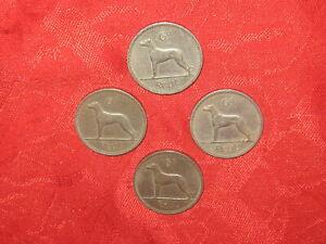 Ireland Celtic Harp Genuine 1942 WWII Irish Sixpence Coin Wolf Hound Dog