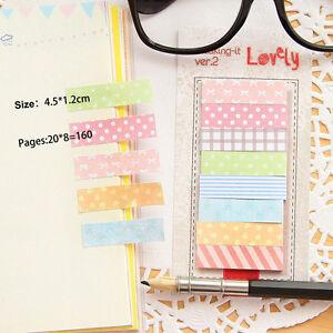 160x-Haftnotizen-Klebezettel-Marker-Inhalt-Sticky-Notes-Memo-Tab-Lesezeiche-X1W7
