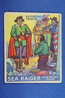 1933 Sea Raiders - World Wide Gum Boston - #22 Extorting Tribute - Good Cond. Fijne Kwaliteit