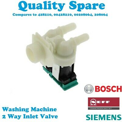DOUBLE TWIN Inlet Water SOLENOID VALVE 90 Degree 2 WAY Washing Machine