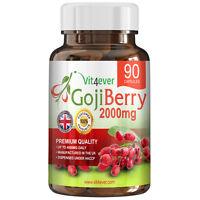 Goji Berry Beere 90 Tabletten 2000mg Wolfsbeere Diät Gesundheit Für Vegetarierer