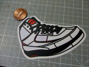WHITE-RETRO-ORANGE-SNEAKERS-MATTE-Sticker-Decal-Laptop-Skateboard-NEW