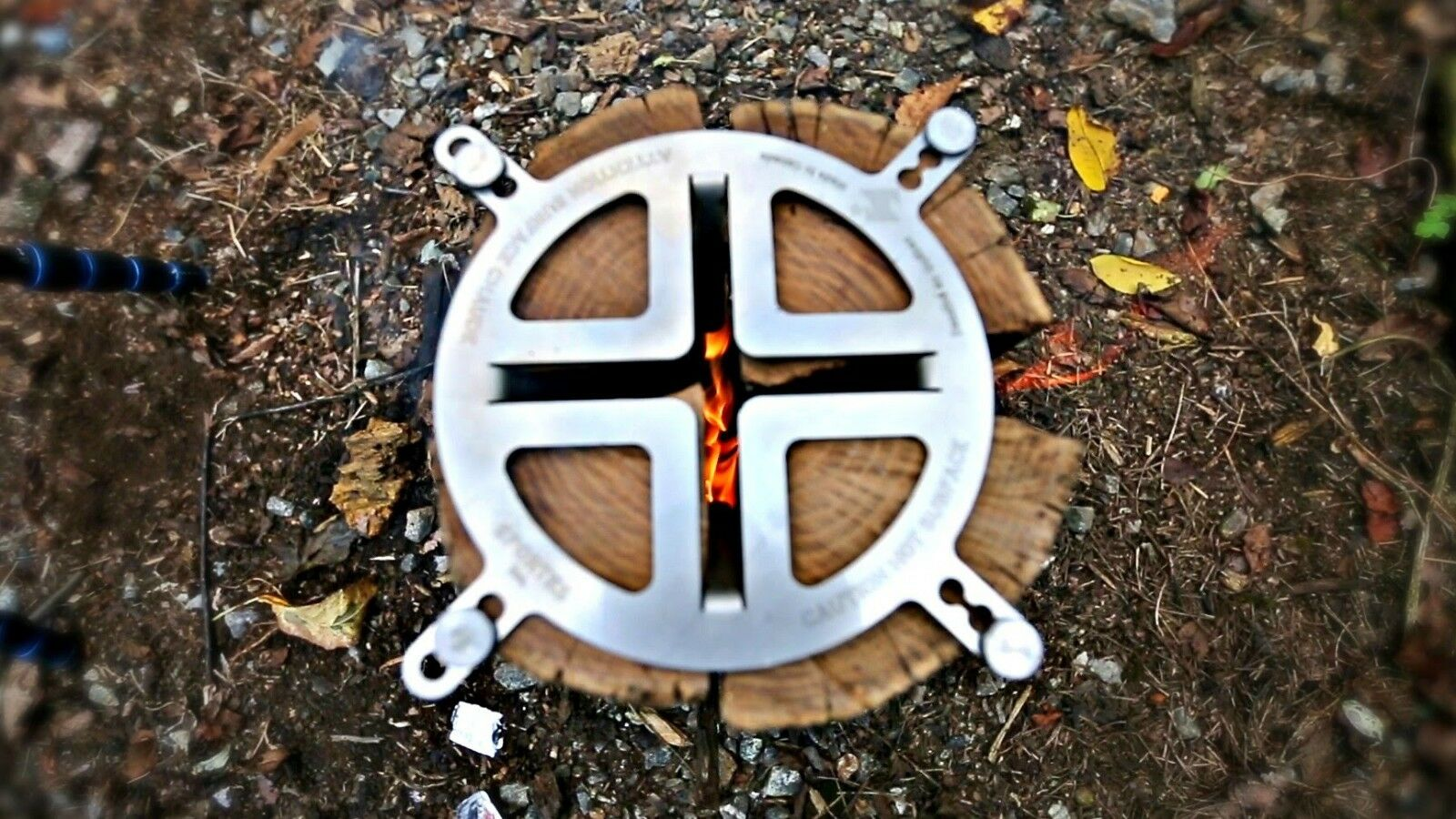 Swedish Torch Camp fire Log Grill Free Shipping