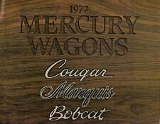 Mercury Station Wagons 1977 Canadian Market Sales Brochure Bobcat Cougar Marquis