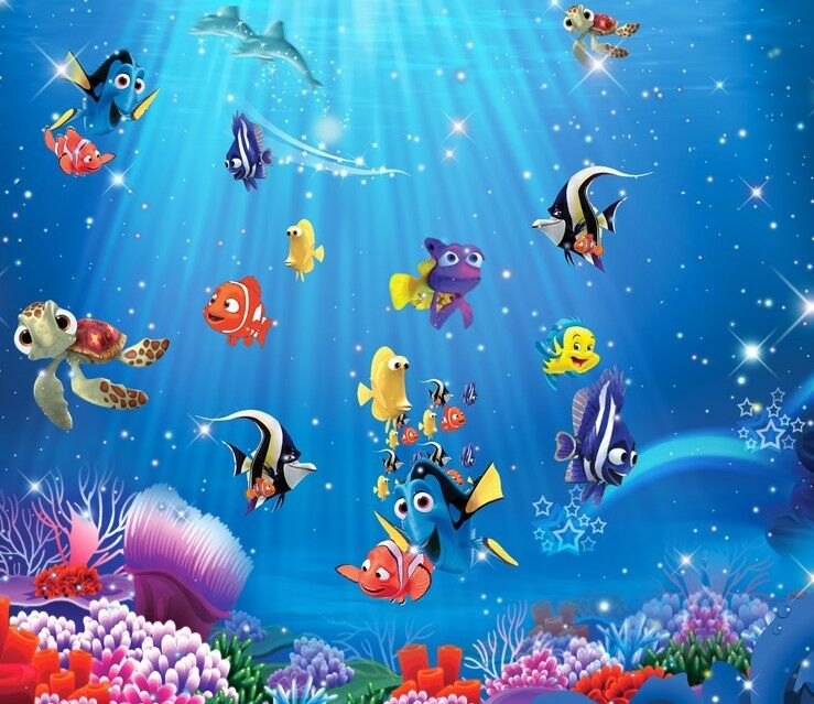 3D Seabed Tropical Fish1 Wall Paper Wall Print Decal Wall Deco Indoor wall Mural