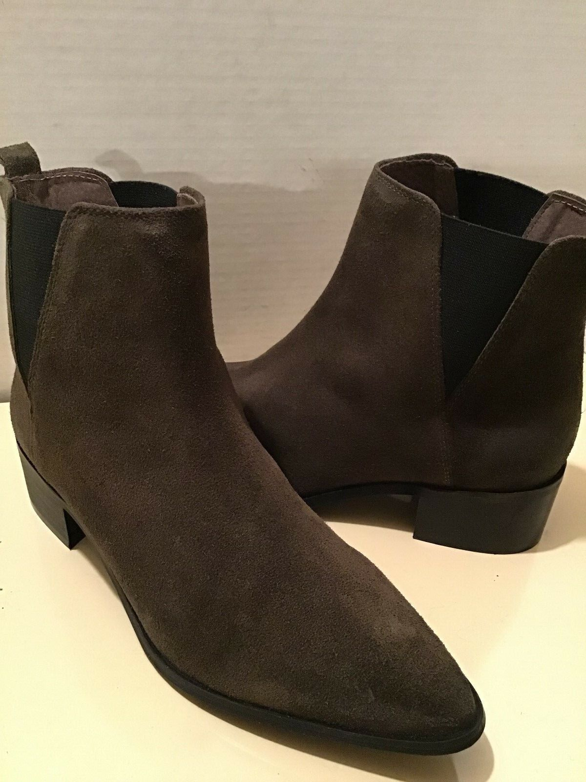 REBELS WOMEN'S BROWN SUEDE ANKLE BOOTS SIZE US 9.5