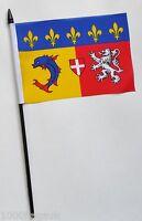 France Rhône-Alpes Coat Of Arms Small Hand Waving Flag