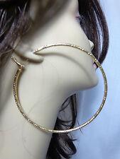 LARGE 4 INCH HOOP EARRINGS SILVER OR GOLD TONE MATTE HOOPS SOLID HOOP EARRINGS