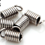 gold Silver Plated Spring Coil Cord End Crimp Fasteners DIY Jewelry Accessories