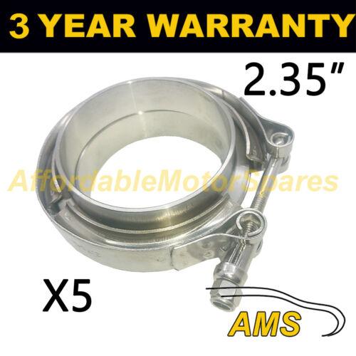 """brides tous en acier inoxydable d/'échappement turbo tuyau 2.35/"""" 60mm 5X v band clamp"""