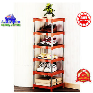 6-Tier-Portable-Stainless-Steel-Shoes-Organizer-Space-Saver-Stackable-Rack-KOREA