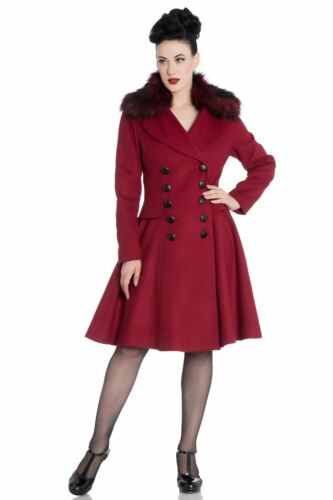 4XL Hell Bunny Milan 50/'s Fatale Style Coat PLUS SIZES XS