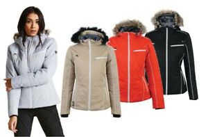 Dare2b-Ornate-Women-039-s-Waterproof-Breathable-Quilted-Ski-Jacket-Coat